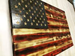 This Flag Has Been Built With American Spruce And Stained Old Glorys