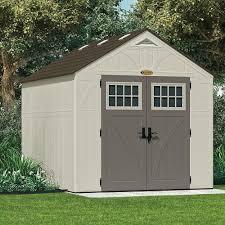 Rubbermaid Big Max Shed 7x7 by Amazon Com Suncast Bms8100 Tremont 8 U0027 X 10 U0027 Storage Shed Patio