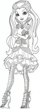 My Daughters Fave Character Printable Ever After High Coloring Pages Raven Queen Sheet