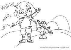 Free Dora Coloring Pages At Kids Games Central