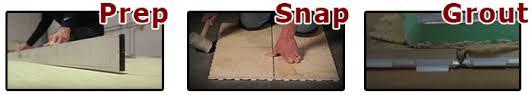 snapstone floating porcelain tile system snapstone