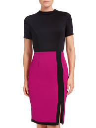 buy adrianna papell scuba and crepe colour block shift dress
