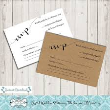 Digital DIY Editable Wedding RSVP Printable Template Microsoft Word File JPEG Rustic Charm Instant Download