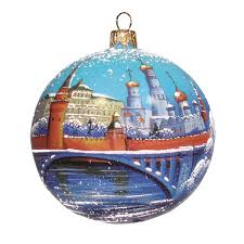 Moscow Kremlin Christmas Ball Ornament Product Sku S178658