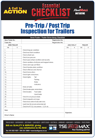 100 Truck Inspection Checklist 29 Images Of Trailer Template Leseriailcom