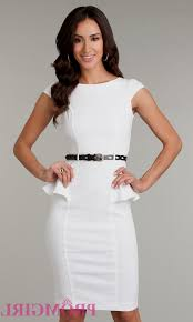 knee length white formal dresses naf dresses