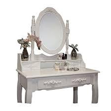 coiffeuse bureau tabouret table de maquillage bureau commode avec coiffeuse blanc