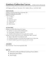 College Resume Template For High School Students Student Templates Word Gallery Website