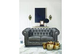 100 2 Sofa Living Room SEATER LEATHER SOFA CHESTERFIELD