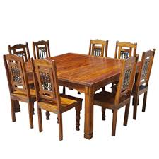 Solid Wood Philadelphia 9pc Classic Dining Table Chair Set