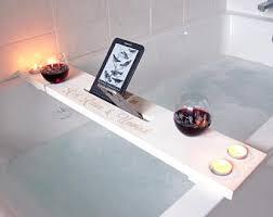 Teak Bathtub Caddy Canada by Bath Caddy Etsy