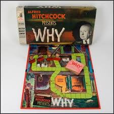 Vintage 1960s WHY Alfred Hitchcock Mystery Board Game