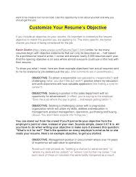 Great Resume Objectives Examples Whats A Good Objective Writing Tips For Inside