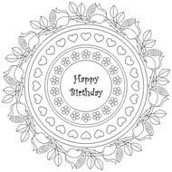 Adult Coloring Pages Happy Birthday