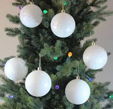 Christmas Tree With White Ornaments Sweet Amazon Festive Season Snowballs Shatterproof