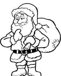 Santa Claus Printable Coloring Pages Christmas