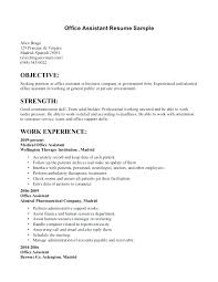 Resume Summary Examples For Administrative Assistants Assistant