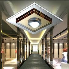 led flush mount hallway lighting kitchen fixtures mobcart co