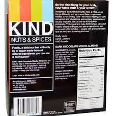 Kind Bar Nutrition Label