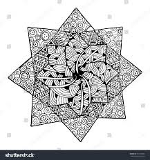 Zentangle Flower Mandala For Coloring Book And Adults Made By Trace From Personal Hand Drawn