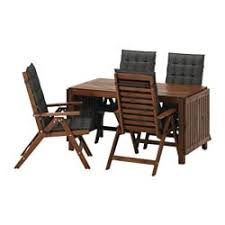 APPLARO Table 4 Reclining Chairs Outdoor