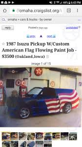 100 Craigslist Iowa Trucks Nothing Says America Like A Isuzu Pickup Truck Painted In Ole Glory