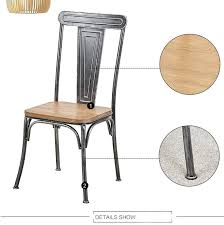 Foshan Shunde Old Retro Iron Rustic Dining Chair Restaurant Chairs For Sale View