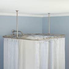 Bathroom Curtain Rod Walmart by Curtains Beautiful White Curtains Ceiling Suspended Shower