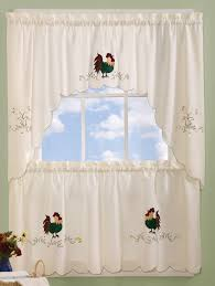 Brylane Home Kitchen Curtains by Rise U0026 Shine Curtains Feature Charmingly Colorful Embroidered
