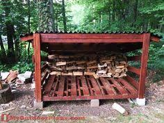 diy firewood shed plans build an enclosure for your firewood by