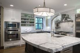 White Distressed Kitchen Cabinets Compliment Stainless Steel Appliances Yelp