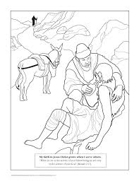 The Good Samaritan Based On Illustration Helps Jew C ProvidenceCollection Coloring Page