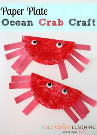 Making Paper Plate Crabs Are Even Easier To Craft All You Need Is Just Fold Your Paint It With Red Color Stick Two Button Eyes