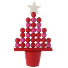Red Christmas Tree Table Ornament