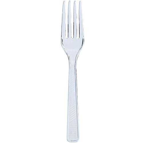 Party Dimensions 80250 Solid Clear Fork - 2304 per Case