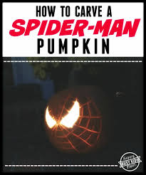 Spiderman Pumpkin Carving by How To Carve A Spider Man Pumpkin