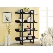 Sterilite 4 Shelf Cabinet by Monarch Specialties 71 In H 4 Shelf Open Concept Display Etagere