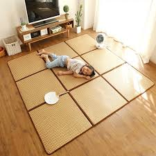 natürliche pflanzen rattan oberfläche wohnzimmer teppich für sommer kühle tatami matte japan stil einfach care klapp gespeichert teppich