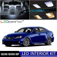 Amazon.com: LEDpartsNow 2006-2013 Lexus IS250 IS350 ISF LED Interior ...