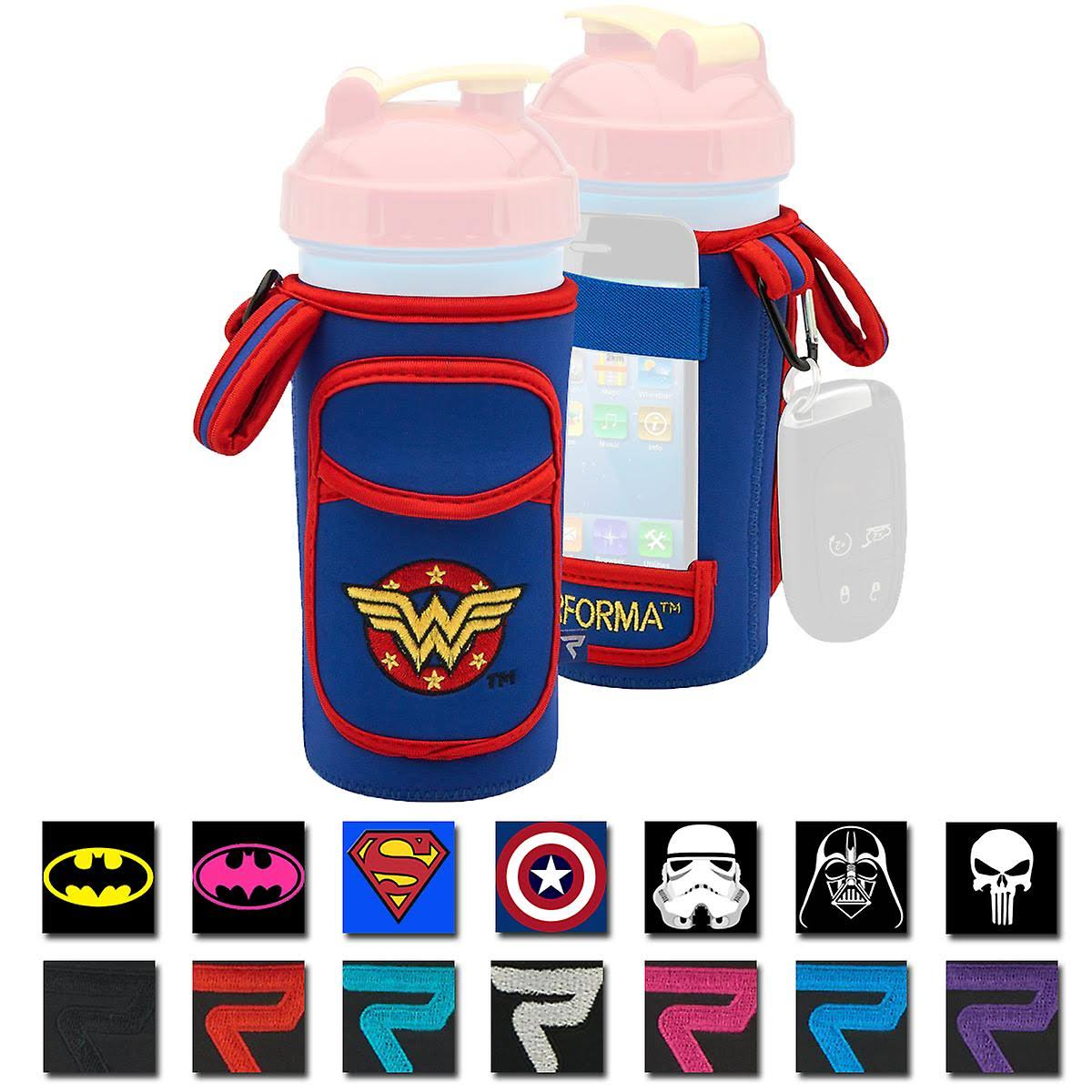 Performa FitGO Insulated Water-Resistant Shaker Cup Holder Sleeve Wonder Woman One Size