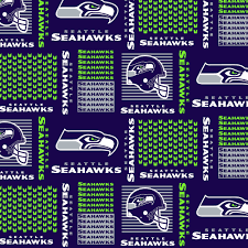 Seattle Seahawks Cotton Fabric 58