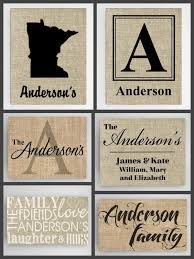 Personalized Family Canvas Sign Realtor Closing Housewarming Gift