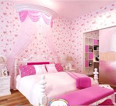 rosa tapete für mädchen schlafzimmer rosa bett zimmer möbel