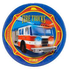 100 Dessert Trucks Fire Plates 8pk Walmartcom