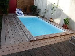 piscine bois rectangulaire piscines bois enterrées et semi enterrées