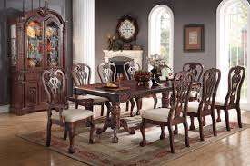 Traditional Cherry Dining 9 Pc Set Chair & Table Set #F2198 Cherry Wood Ding Table And Chairs Chateau De Ville Formal Room With Leatherette Rowena Cream White Fniture Suitable Add Ding Room Wall Rustic Finish Woptions Coaster Tabitha Double Pedestal Pc Set Seat In Black Style Kincaid Park Group Traditional Kitchen Fancy Elegant Cherry Wood Formal Sets Cityofchelmsrdinfo