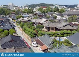 100 South Korean Houses Jeonju Hanok Village Popular Tourist Attraction With