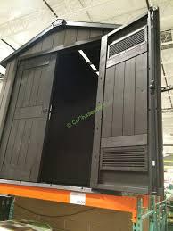 Keter Storage Shed Shelves by Keter 7 5 U0027 X 7 U0027 Resin Outdoor Storage Shed U2013 Costcochaser