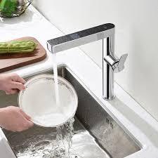 messing wasserhahn küche led temperaturanzeige heizung wasserhahn spültischarmatur mischbatterie armatur spüle chrom für küche