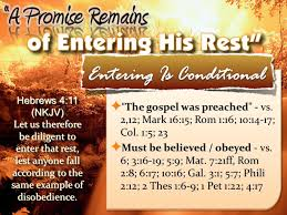100 Col 1 Hebrews 43 NKJV Therefore Since A Promise Remains Of